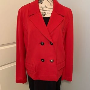 Peck & Peck ladies red dress blazer jacket.